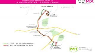 "Sistema M1 sustituye servicio en ruta ""La Villa (ferroplaza) – La Brecha Tlapexco"""
