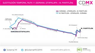 "Sistema M1 Sustituye Servicios en Ruta ""Gigante Iztapalapa — Metro Pantitlán"""