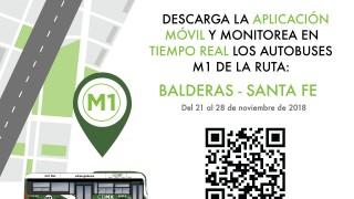 PRUEBA PILOTO: Descarga la aplicación M1 Usuarios en tu celular  y conoce a qué hora pasará tu autobús